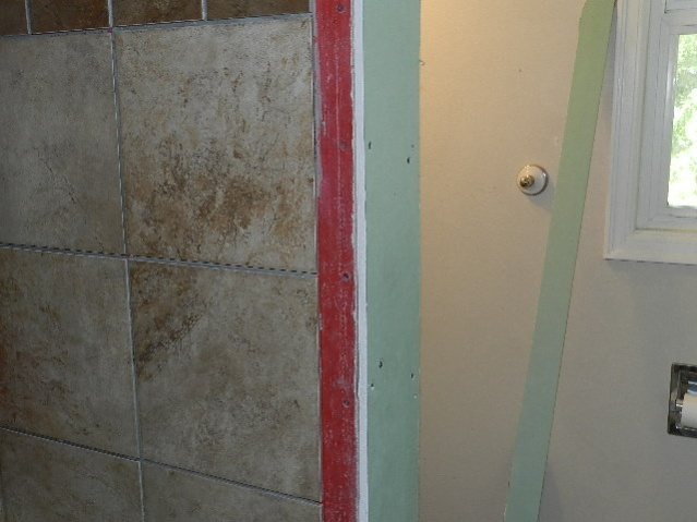 Wall Out Of Plumb How Do You Tile It And Have Decent Visuals. Grout ...