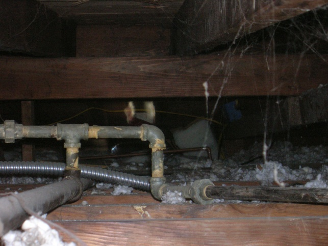 Daylight Visible In Attic Under Stove Hood Vent