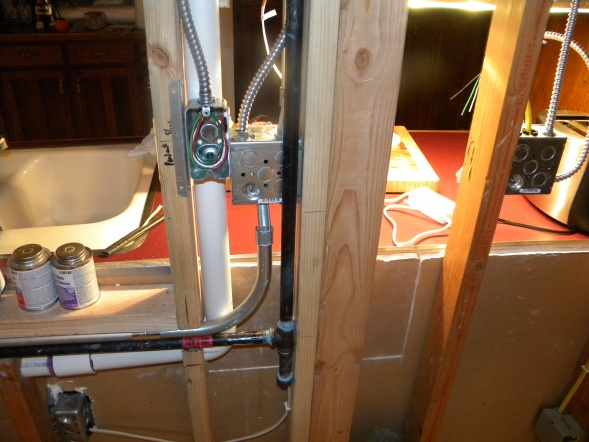 Gas Line Above Kitchen Cabinets Plumbing Diy Home Improvement
