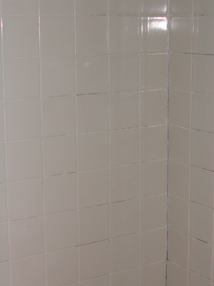 how to patch missing grout in shower