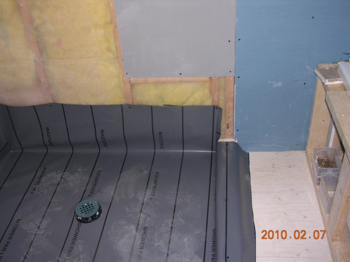 Shower Pan Liner Flooring Diy