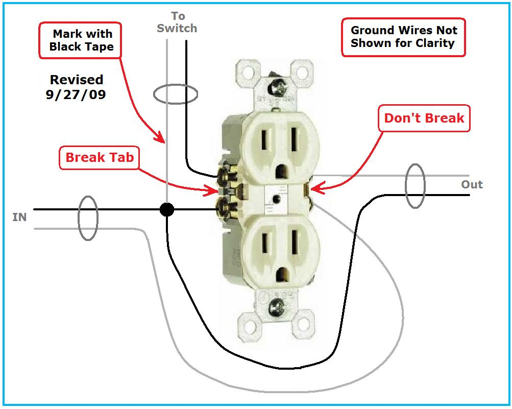 Switched Receptacle Wiring Problem. - Electrical - DIY ...