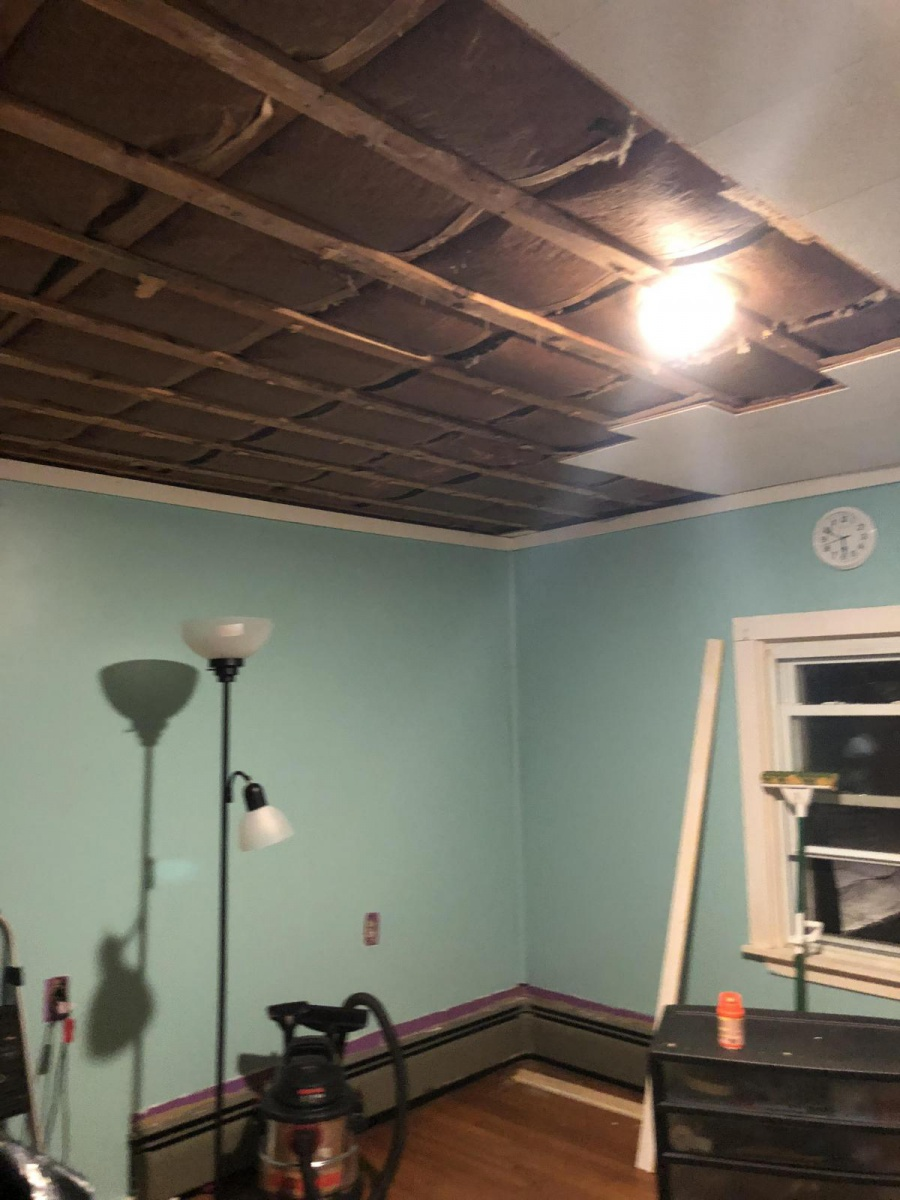 When To Cover Up And When To Take Down Ceiling Tiles