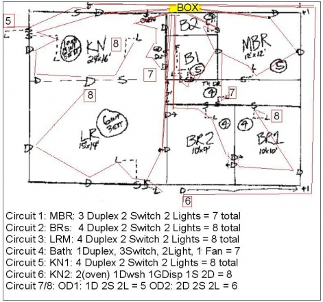 correct wiring diagram for 1 story house electrical. Black Bedroom Furniture Sets. Home Design Ideas