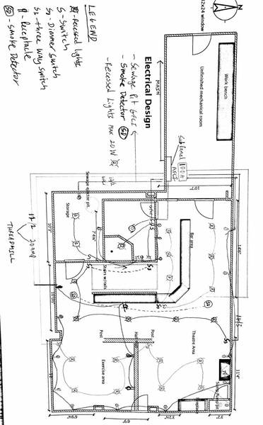 my basement electrical plan - electrical