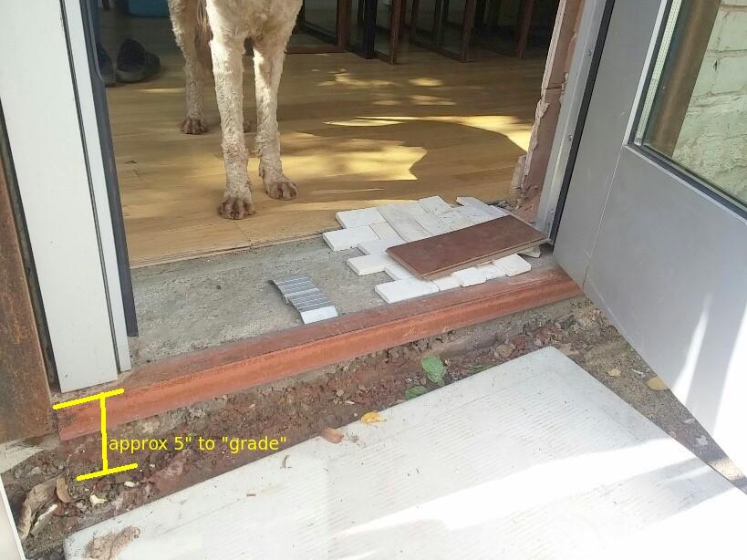 ... Ideas For Finishing This Threshold Entry Door Threshold