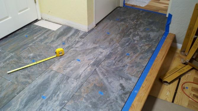 Floor Tile Edging Options: Wall Trim Options For Tiled Entryway Floor