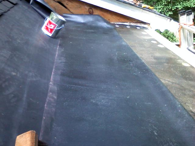 Ice/ Weather Shield For Flat Roof Epdm Job 13