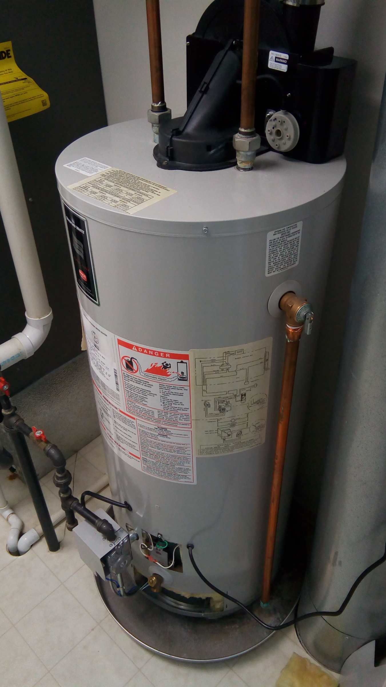 Water Heater Condensate Amp Vent Pitch Issues Plumbing Diy Home Improvement