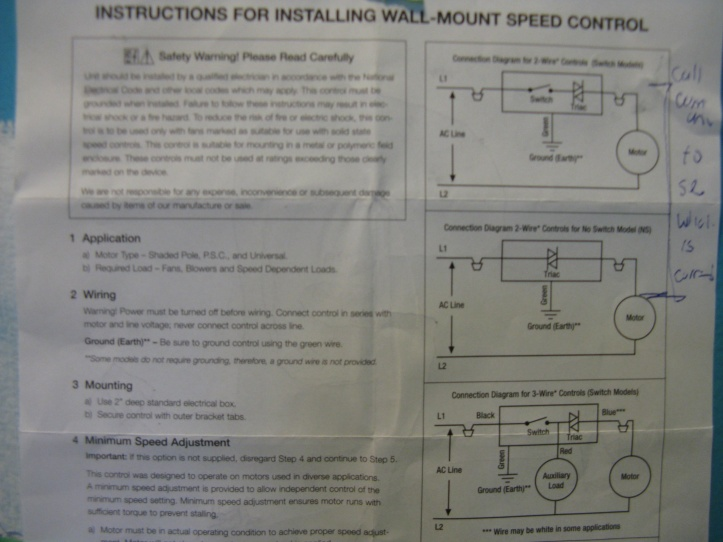 Fan Speed Control Issue With Timer - Electrical - DIY