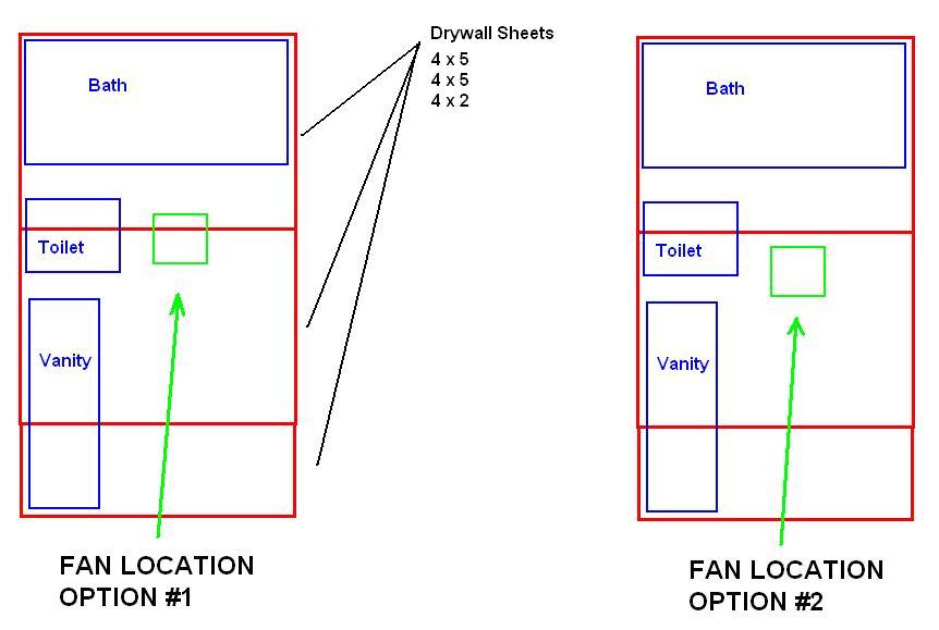 Bathroom Exhaust Fan Location In Drywall Fan Location