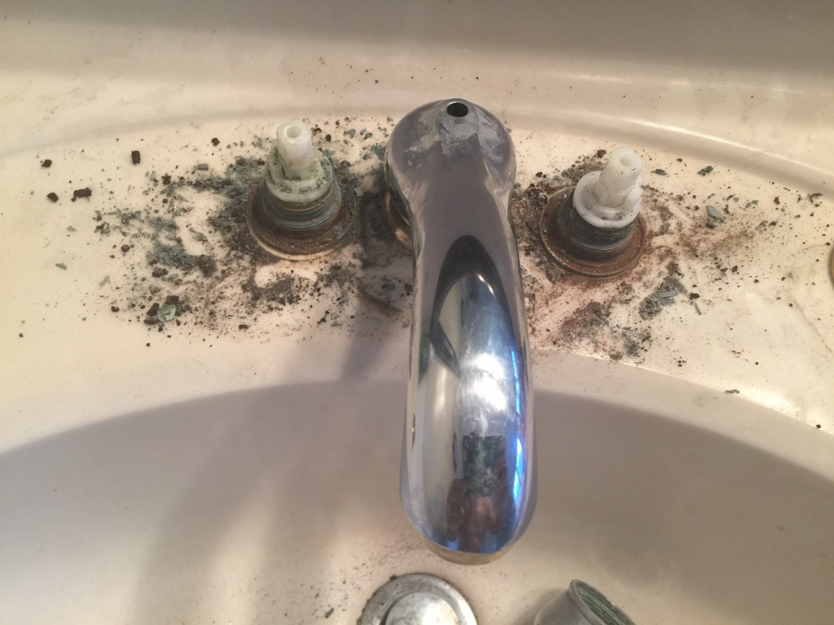 Trying To Remove Old Bathroom Vanity Faucet - Plumbing - DIY Home ...