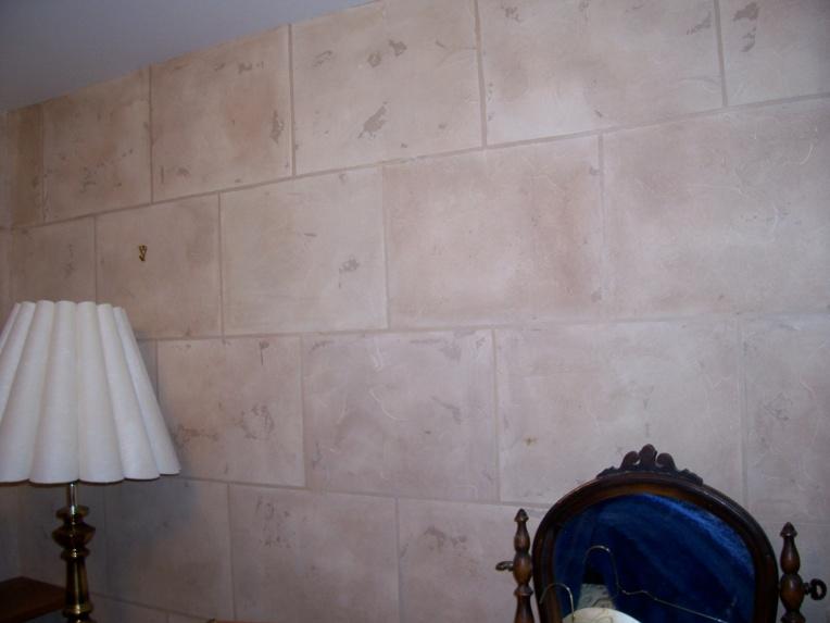 Faux stone faux block wall finish faux block 002 jpg