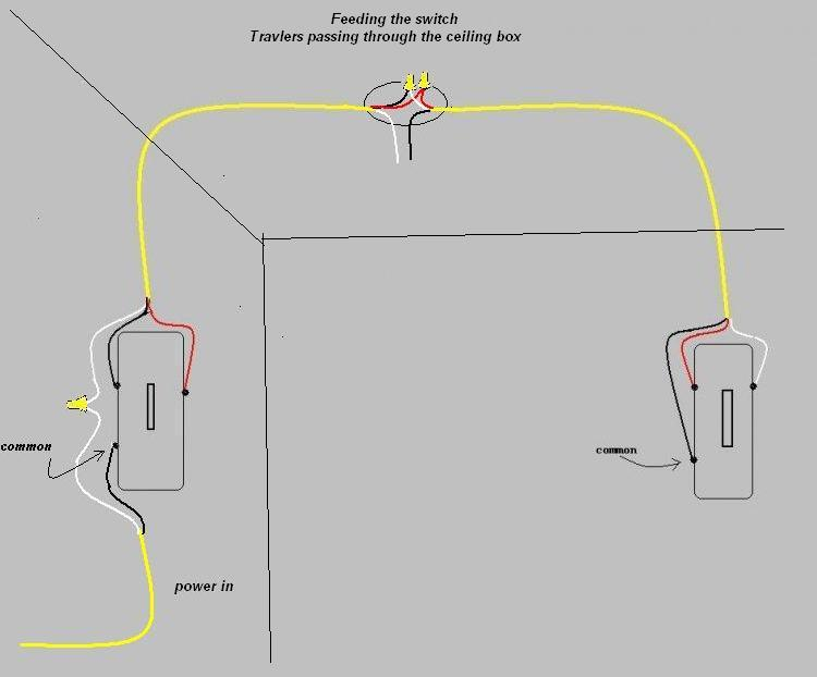 three way light switch wiring - electrical
