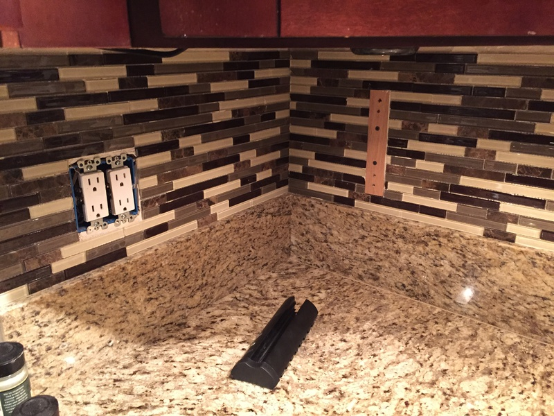 Mounting Small Tv On Thin Glass Tile Backsplash In Kitchen ...