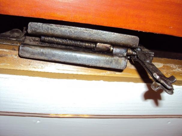 ... How do I adjust this old pocket door hardware?-fire-017.jpg - How Do I Adjust This Old Pocket Door Hardware? - Windows And Doors