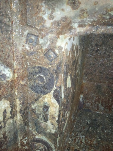 Wood Bishop & Co. Antique cook stove-firebox-damage-left-rear-768x1024-.jpg