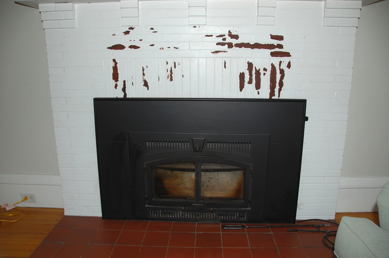 Removing Paint From Brick Fireplace 001 Jpg