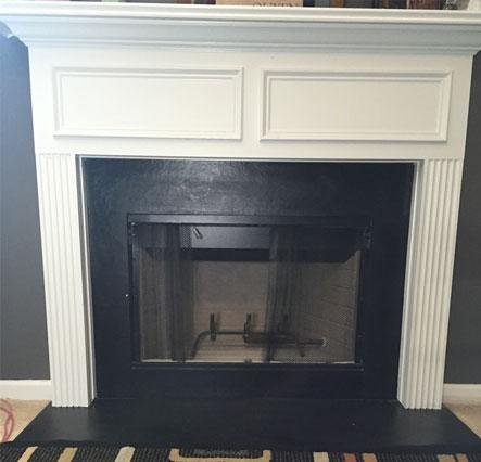Paint Inside Fireplace For Fireglass? - Interior Decorating ...