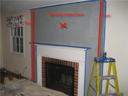 Stud Spacing Above A Fireplace In An Older House What S