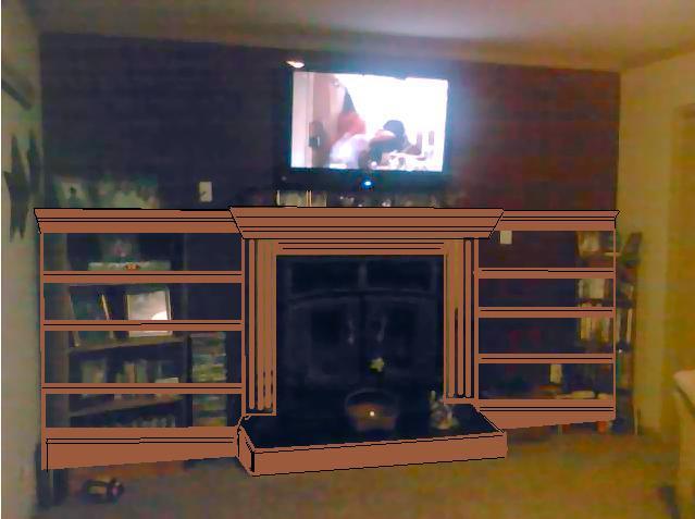 Diy Fireplace Shelves