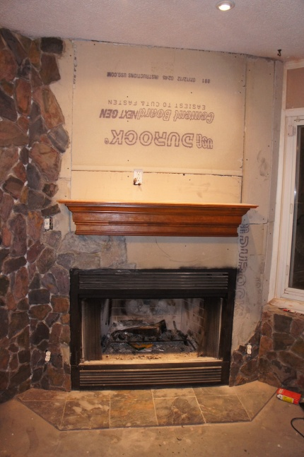 Is the mantel shelf I installed too short?-fireplace2.jpg