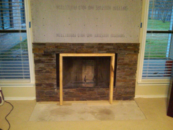 Stone Veneer Dry Stack over Brick-fireplace3.jpg - Stone Veneer Dry Stack Over Brick - Remodeling - DIY Chatroom Home