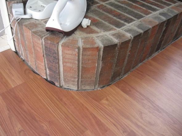 Laminate Flooring Around Curved Fireplace - Flooring - DIY ...