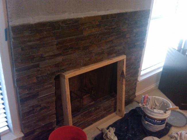 Stone Veneer Dry Stack Over Brick Remodeling Diy