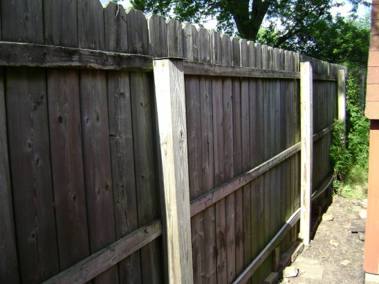 Leaning Fence Reinforcement Landscaping Amp Lawn Care