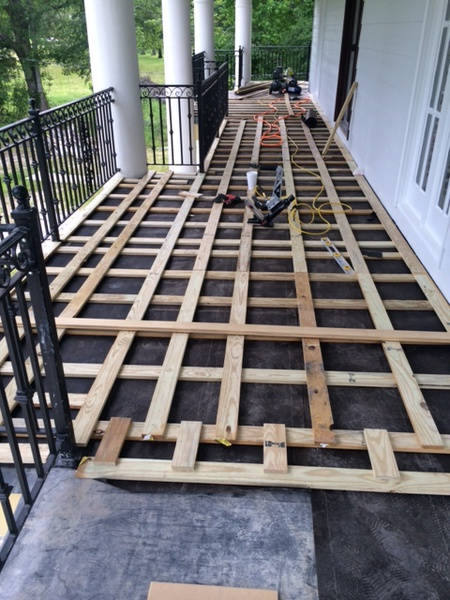 Need balcony water drainage help roofing siding diy for How much to build a floating deck