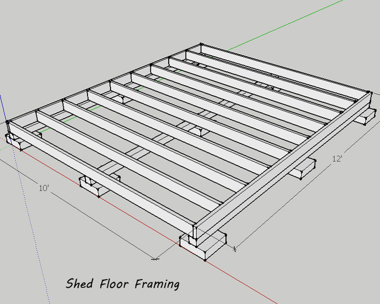 Shed Roof Without Ceiling Joists Floor Framing ...