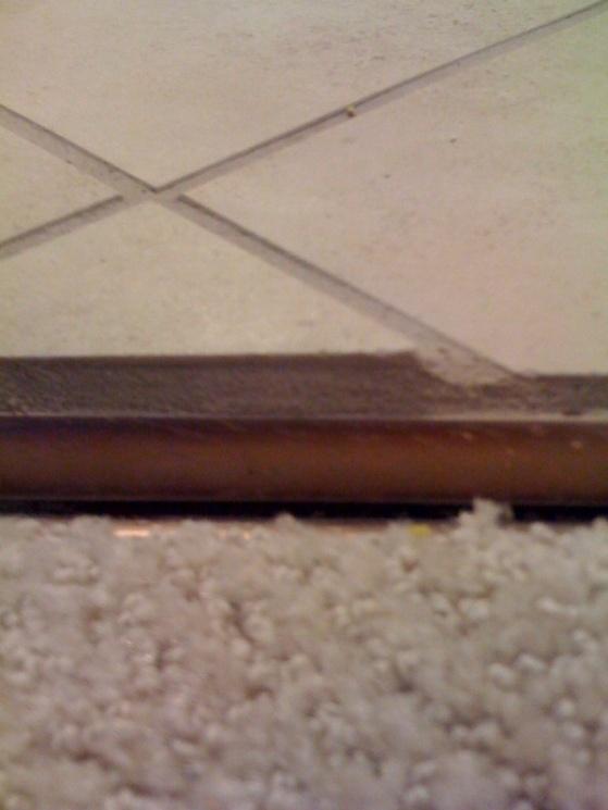 tile/carpet threshold bad job can it be fixed?-floor.jpg