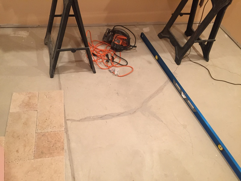 Leveling Concrete Floor For Tilewavy Flooring Diy Chatroom