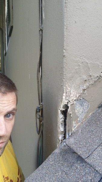 Stucco Repair From Poor Flashing Roofing Siding Diy