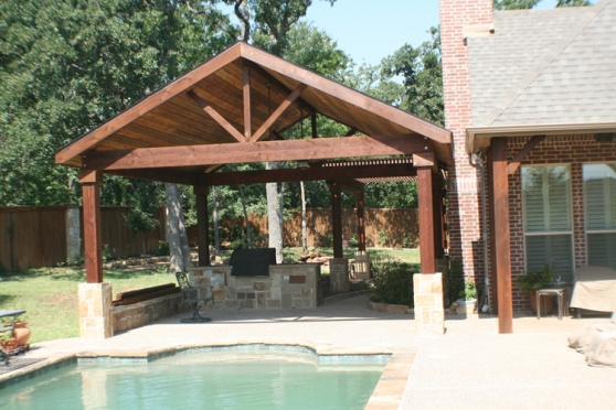 Open Gable Patio - Outdoor Kitchen - Building ... on Open Patio Designs id=28616