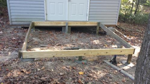 10x10 Free Standing Deck Building Amp Construction Diy
