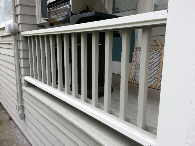 attaching wood railing to concrete - Porch Railing