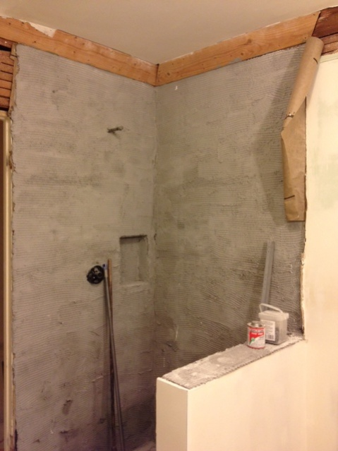 A Shower Wall Without Cement Board Is Possible Kitchen