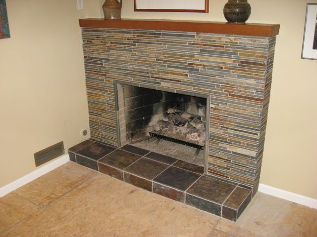 Tiling Masonry Fireplace - Tiling, ceramics, marble - DIY ...
