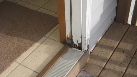 exterior door jamb rot remediation front door frame total view