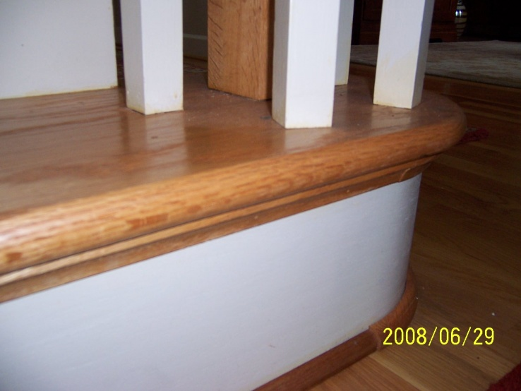 Newel post repair for dummies-front-gooseneck-install.jpg
