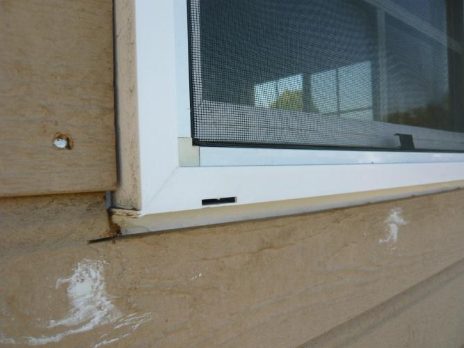 Exterior Window Trim Prevent Water Leak Building
