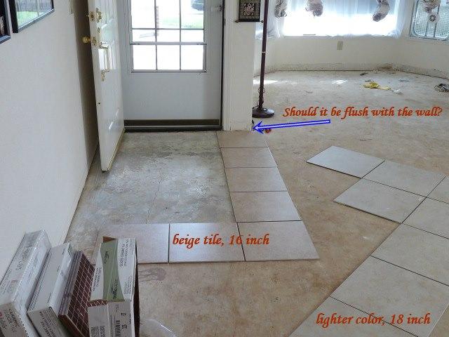 Front Foyer Tile Pictures : Front entryway tile setup ok? tiling ceramics marble diy