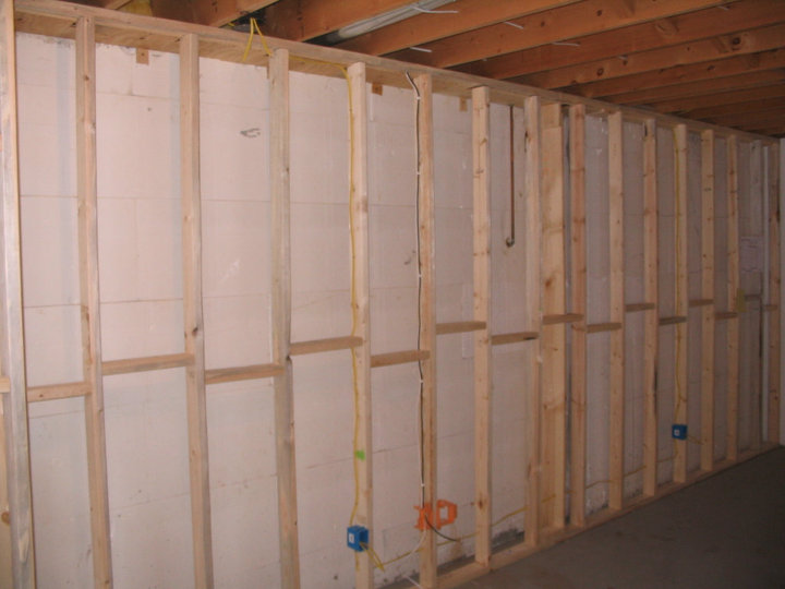 Finishing Basement and need a review of the plans-frontwallstuded.jpg
