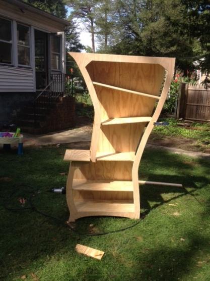 ... Seussical Bookshelf Full Shelves