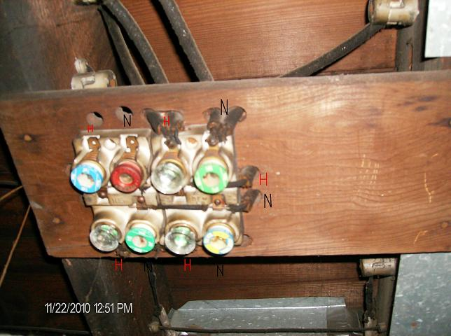 connecting fused knob  u0026 tube to new breaker panel