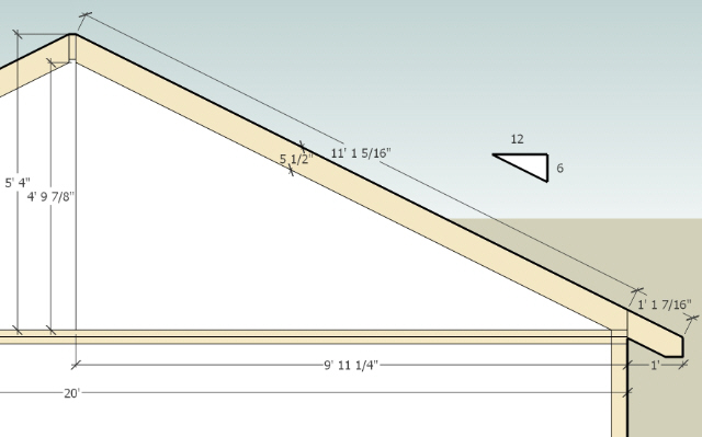 Rafter Help Please Gable Rafters Length 6 12 Diy