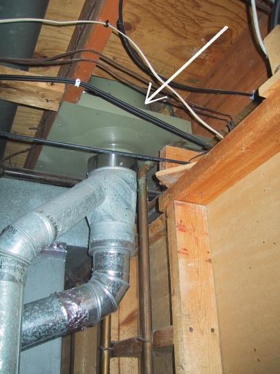 Gap Around Attic Entry Of Furnace Flue Insulation Diy