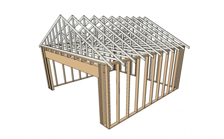 Building A 20 X 20 Wood Frame Garage Building